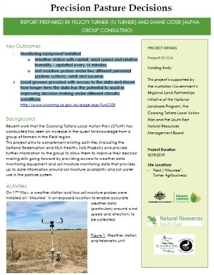 Precision Pasture Decisions Project Report cover