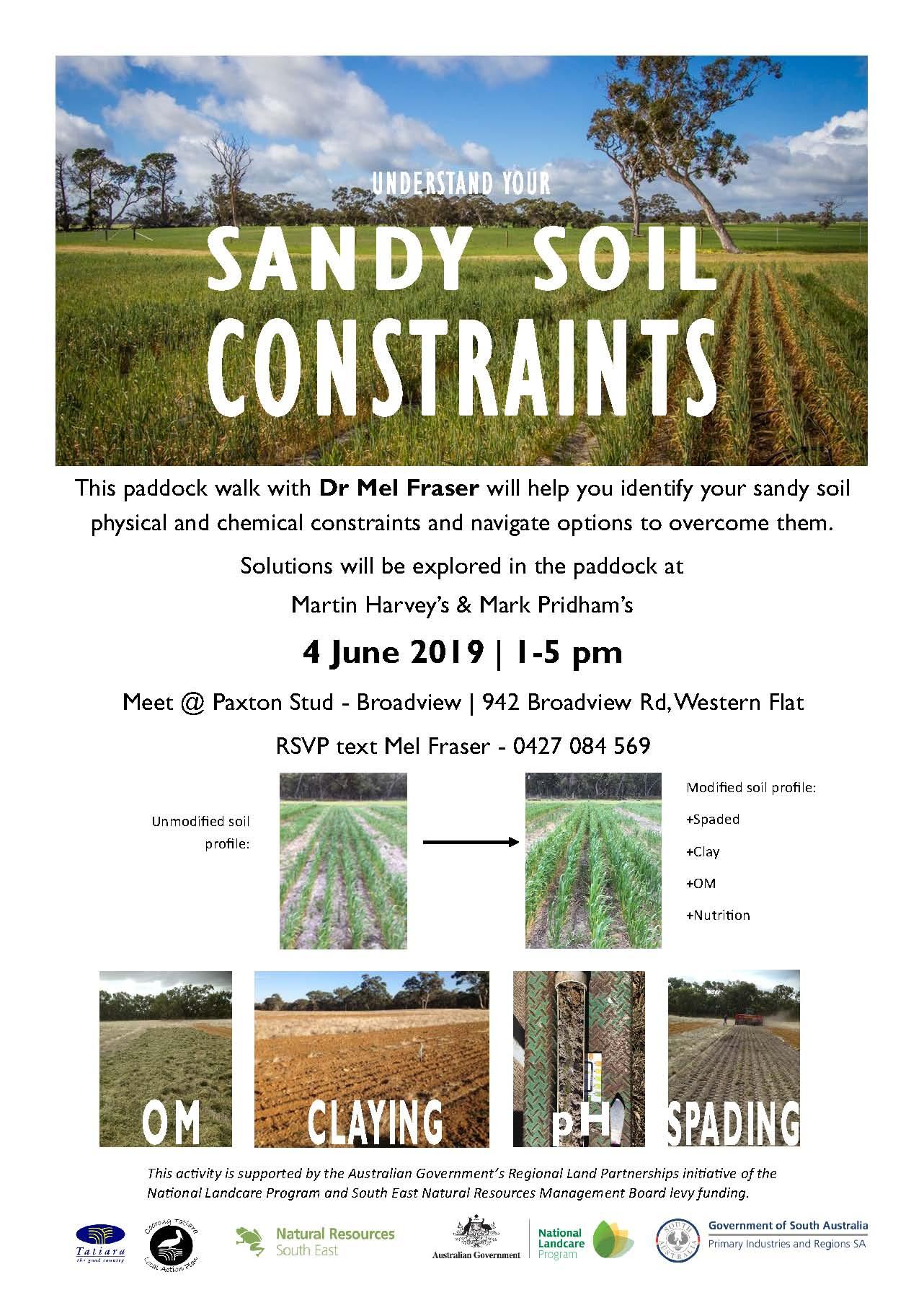 Tuesday 4th June_Sandy Soil Constraints_Western Flat
