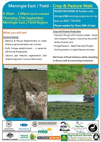 18 Meningie East Field Crop and Pasture Walk 2018