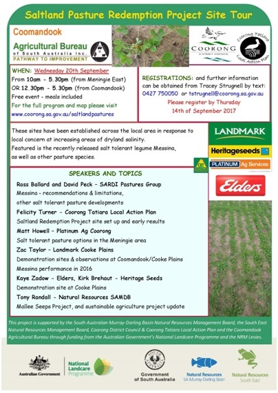 21 Saltland Pasture Redemption Project Site Tour Flyer 2017