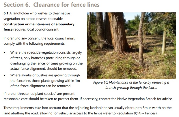 Section 6 Clearance of fencelines